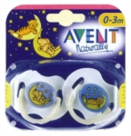 Avent Succhiotto in Silicone Notte 3 6 mesi