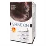 BioNike Linea Shine ON Tintura per Capelli Cute Sensibile 3 Castano Scuro