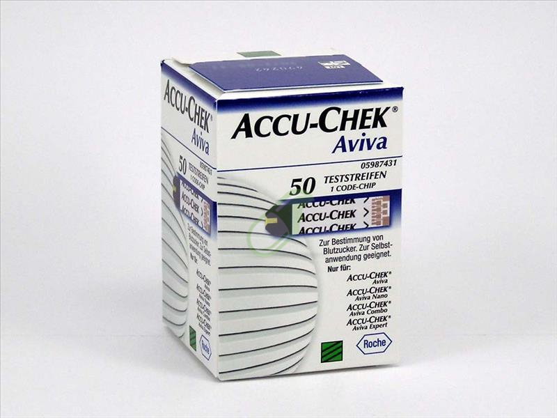Accu-Chek Linea Controllo Glicemia Aviva 50 Strisce Rilevatrici