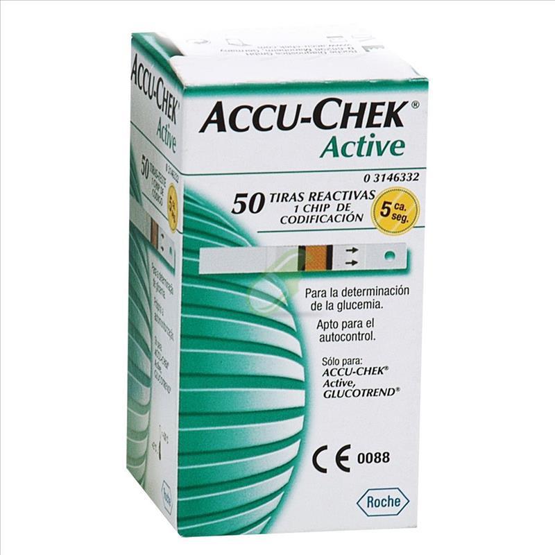 Accu-Chek Linea Controllo Glicemia Active 50 Strisce Rilevatrici Plasma