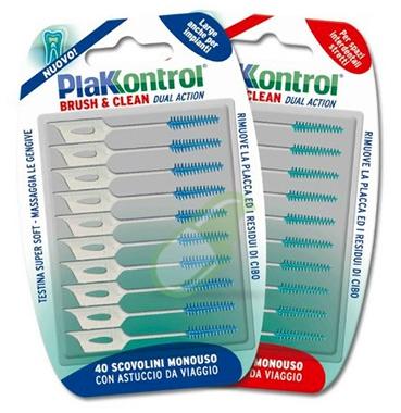 Plakkontrol Linea Igiene Interdentale Brush & Clean Spazi Stretti 40 Scovolini