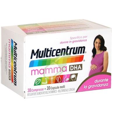 Multicentrum Linea Gravidanza Mamma DHA Integratore Alimentare 30+30