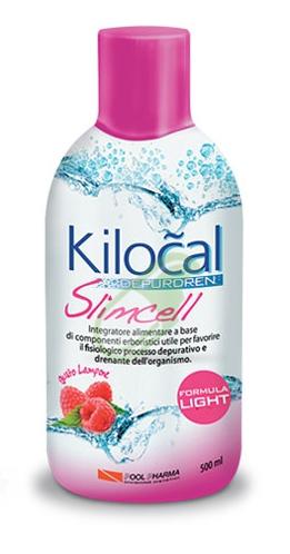 Kilocal Linea Depurdren Slimcell Formula Light Integratore 500 ml Lampone
