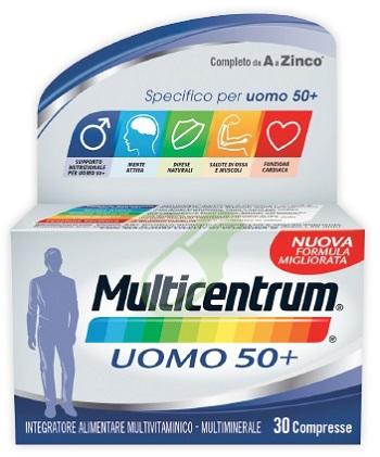 Multicentrum Linea Uomo 50+ Integratore 50+Anni Specifico 30 Compresse