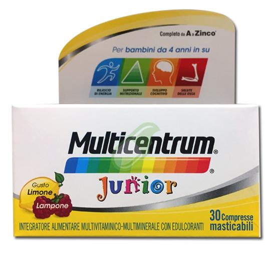 Multicentrum Linea Junior Integratore Alimentare Specifico 30 Compresse Masticab
