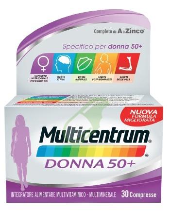 Multicentrum Linea Donna 50+ Integratore 50+Anni Specifico 30 Compresse
