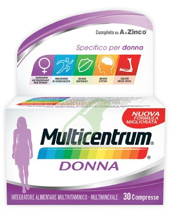 Multicentrum Linea Donna Integratore Alimentare Specifico 30 Compresse