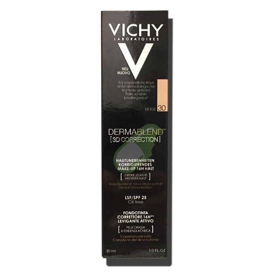 Vichy Make-up Linea Dermablend 3D Correction Fondotinta Elevata Coprenza 30ml 30