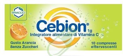 Cebion Integratore di vitamina C 10 Compresse Effervescenti Arancia SZ