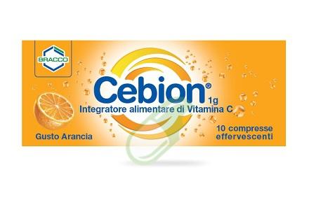 Cebion Integratore di vitamina C 10 Compresse Effervescenti Arancia