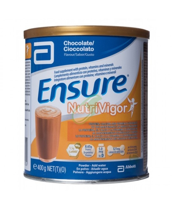 Abbott Linea Nutrizione Domiciliare Ensure Nutrivigor Gusto Cioccolato 400g