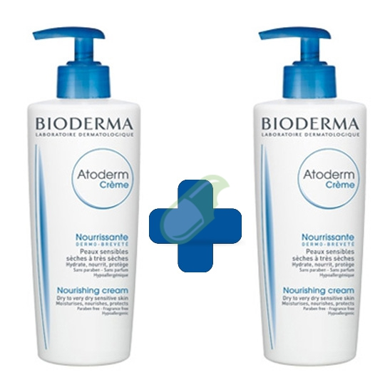 Bioderma Linea Pelli Secche Atoderm Crema  2 Flaconi 500 ml+500 ml