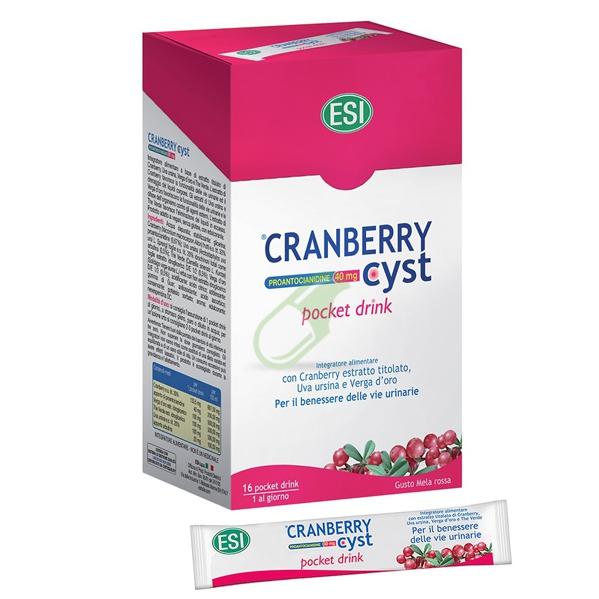 Esi Linea Benessere Urinario Cranberry Cyst Integratore Pocket Drink 16 Bustine
